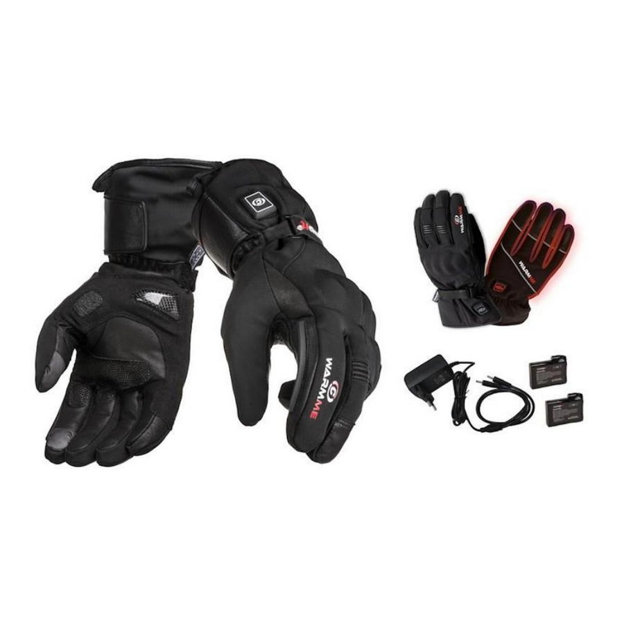 Heated Gloves WarmMe Moto - Size S (7-8)