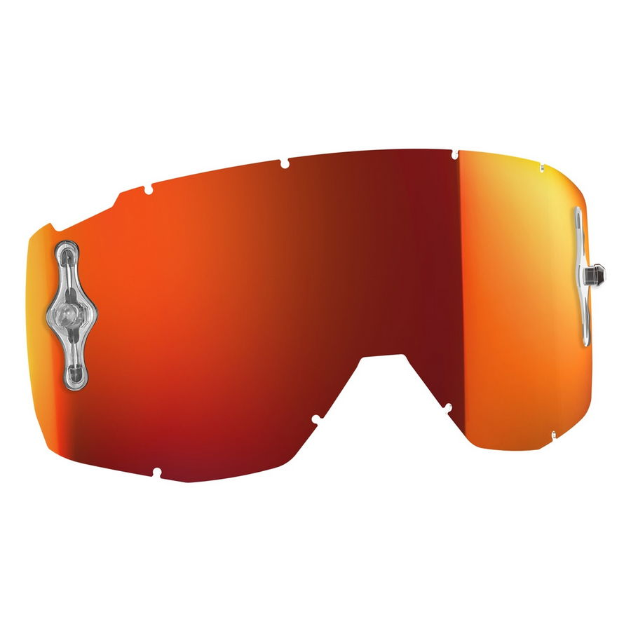 Replacement lens for HUSTLE/PRIMAL/SPLIT OTG/TYRANT goggles - Orange chrome afc
