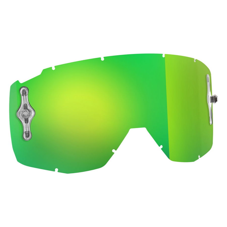 Replacement lens for HUSTLE/PRIMAL/SPLIT OTG/TYRANT goggles - Green chrome afc