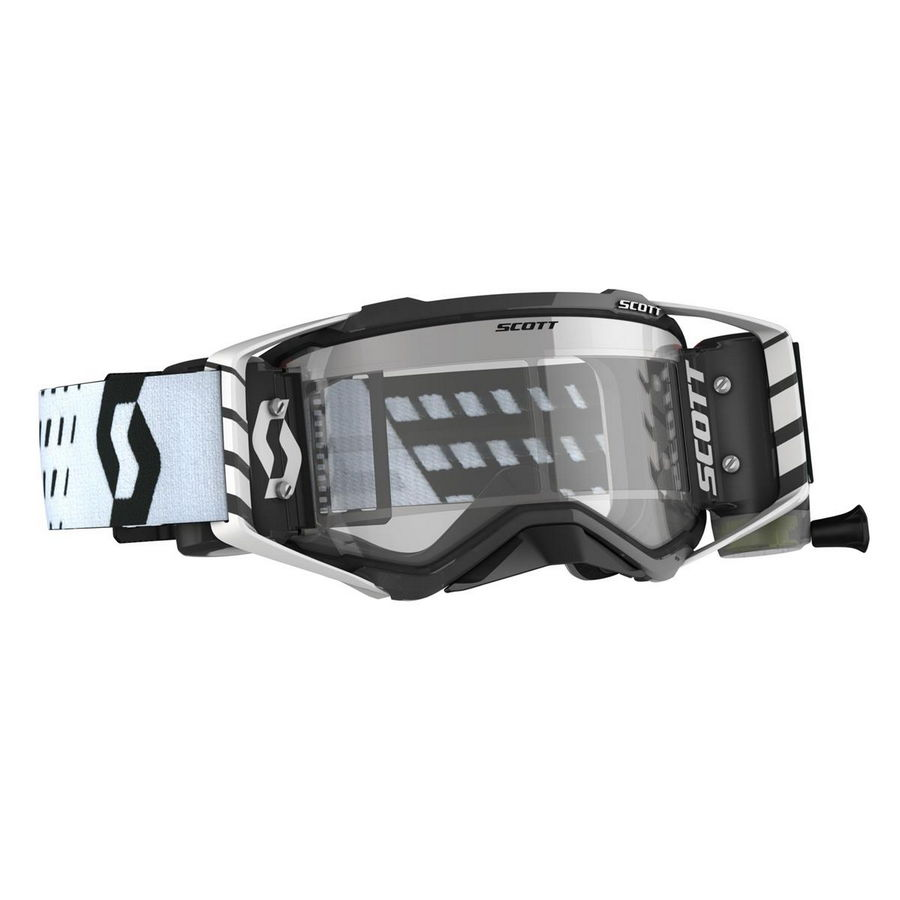 Prospect goggle WFS roll-off included Black white - Visor clear Works Bike