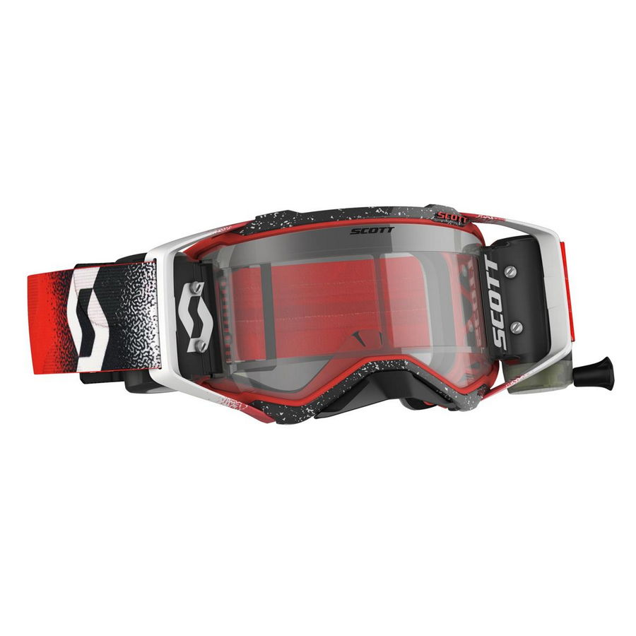 Prospect goggle WFS roll-off included Red white - Visor clear Works