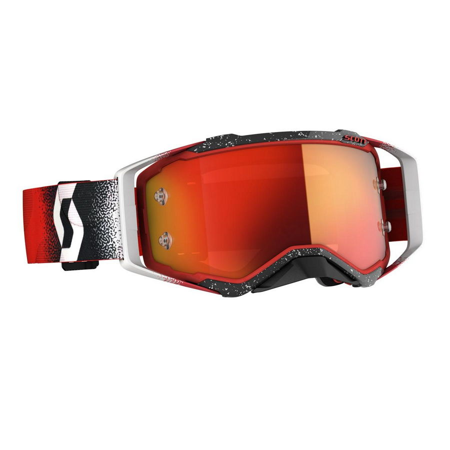 Prospect goggle 2021 White Red - Visor orange chrome Works Bike