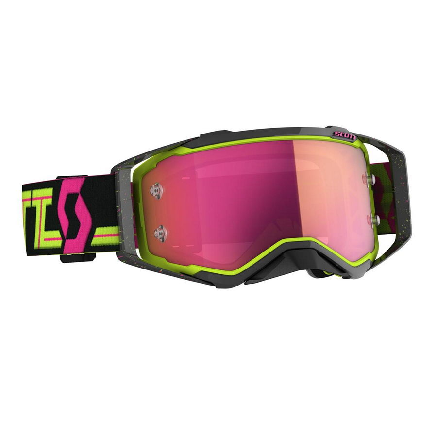 Prospect goggle 2021 Black Yellow - Visor Pink chrome Works
