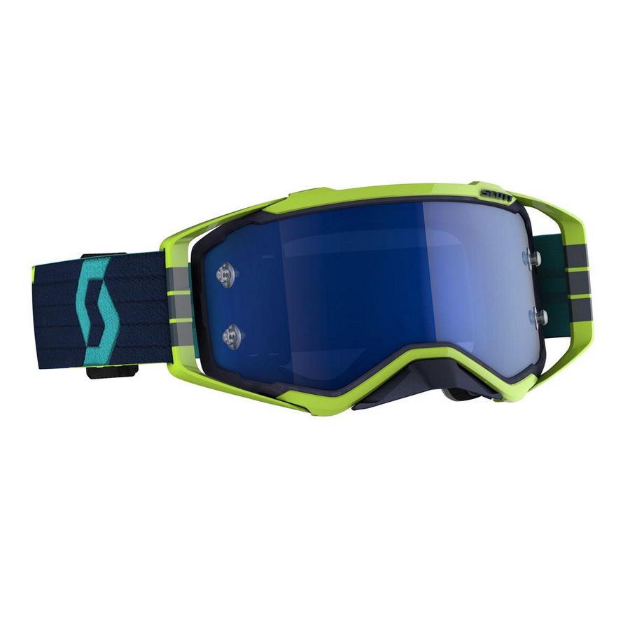 Prospect goggle 2021 Blue Yellow - Visor Electric blue chrome Works