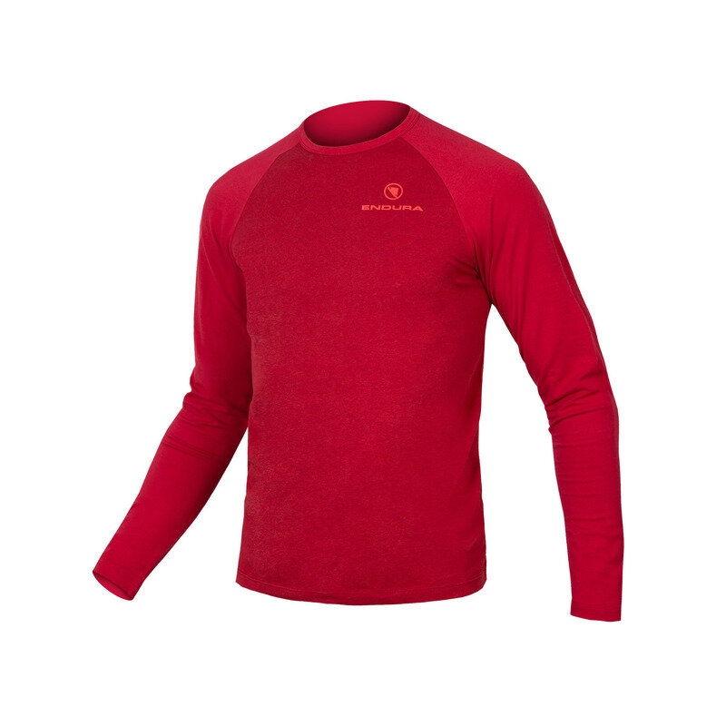 One Clan Raglan Long-Sleeves Jersey Red Size XS