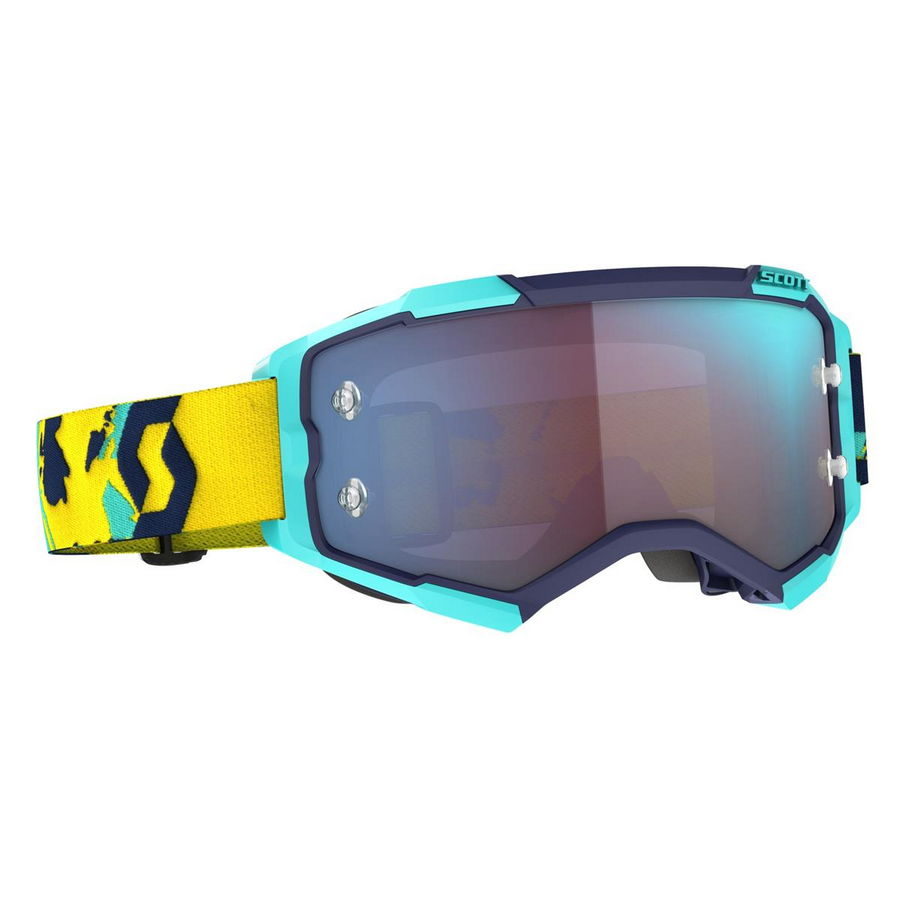 Fury goggle Blue Orange - Visor Blue chrome works