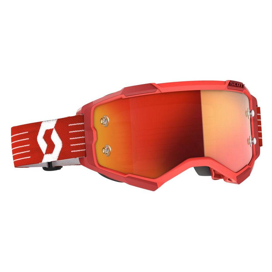Maschera Fury Rosso Chiaro - Lente Orange chrome works