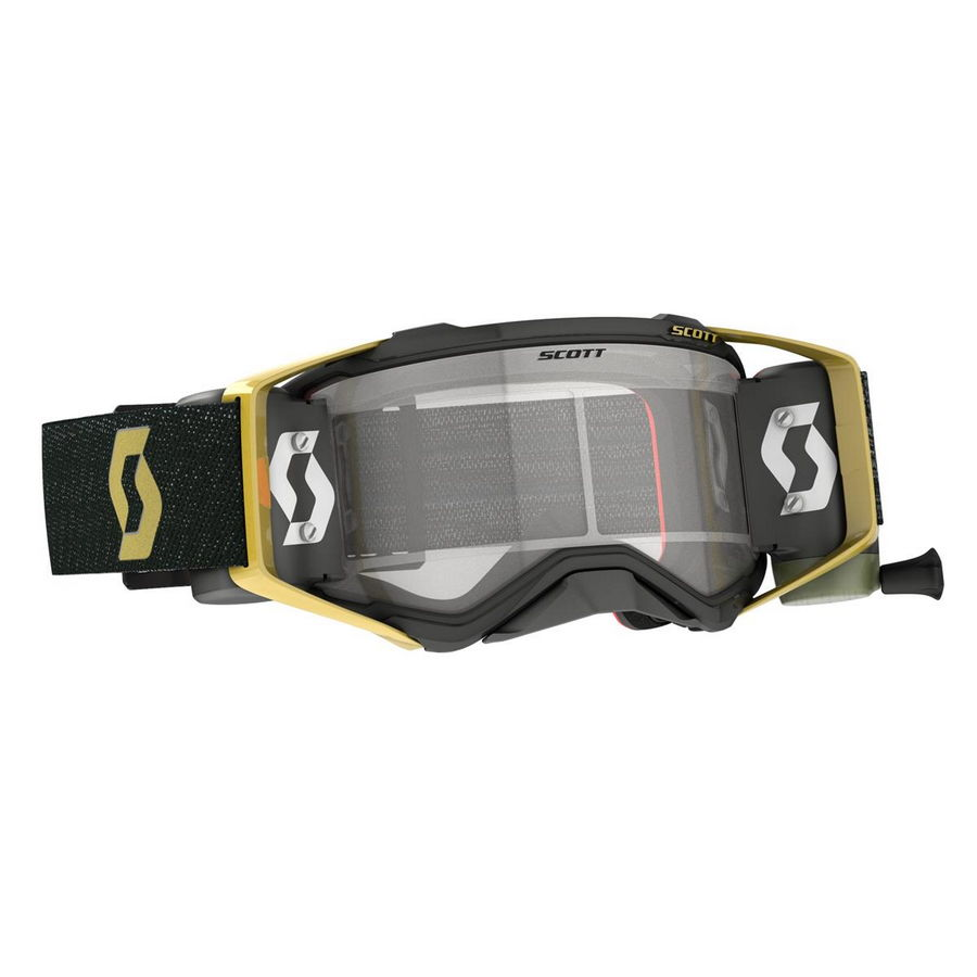 Prospect goggle WFS roll-off included Black Gold - Visor clear Works
