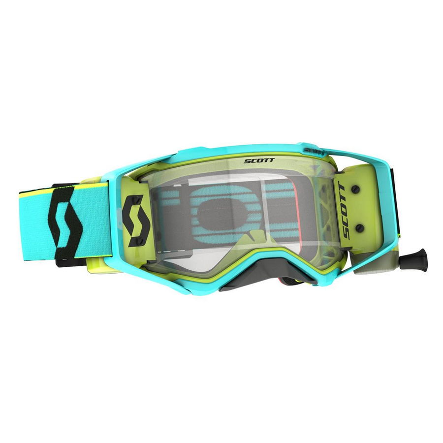 Prospect goggle WFS roll-off included Teal Blue Yellow - Visor clear Works Bike