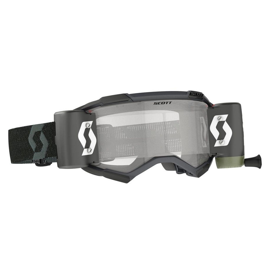 Fury goggle WFS roll-off included Black - Visor clear Works
