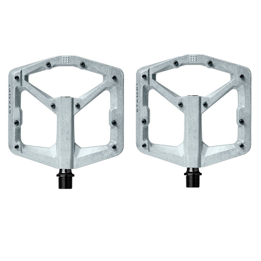 Pair of pedals Stamp 2 Large raw silver V2