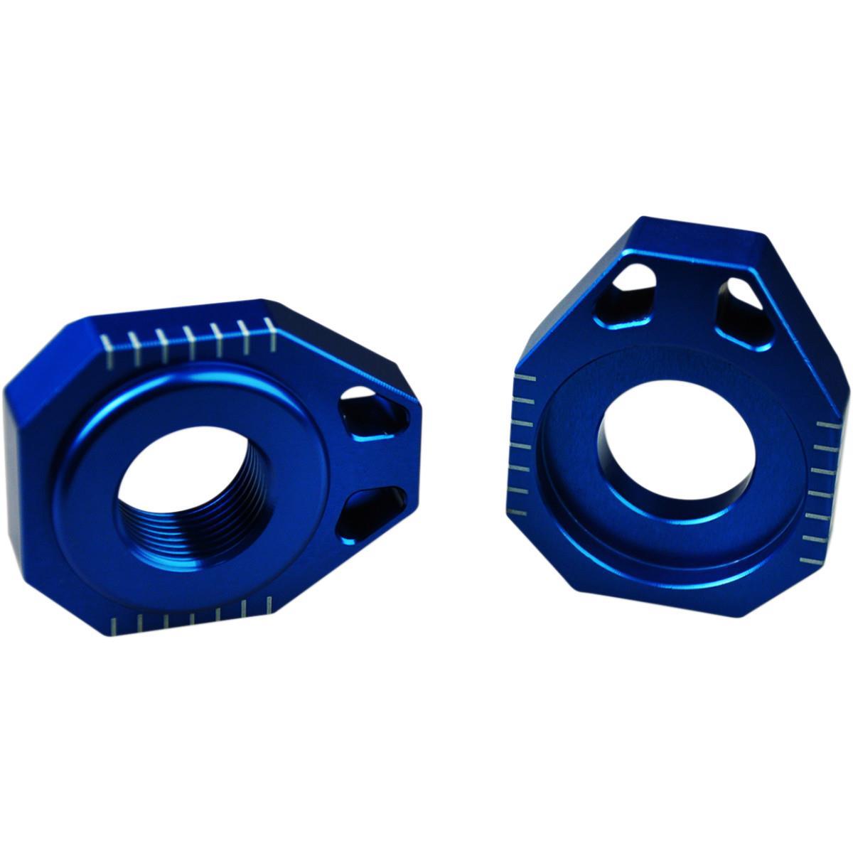 Axle blocks KTM EXC EXC-F SX Husqvarna TE TC FE FC - CNC Alluminium Blue