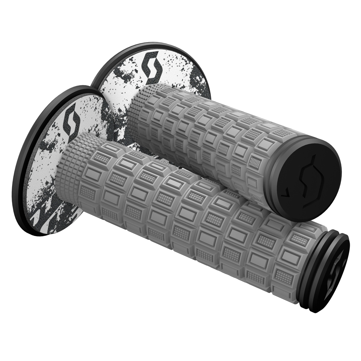 Mellow & Donut Off-road grips Grey/Black