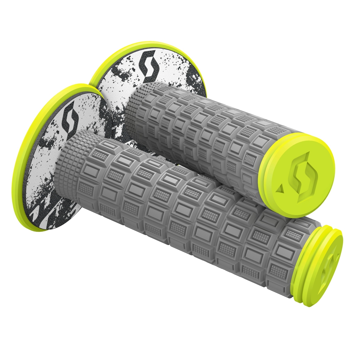Mellow & Donut Off-road grips Grey/Neon Yellow