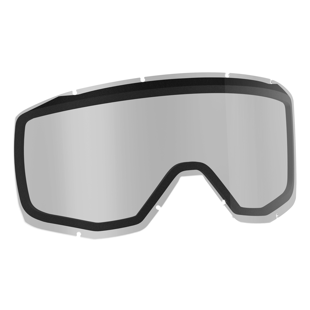 Replacement double lens for HUSTLE/SPLIT OTG/TYRANT goggles - Clear smb