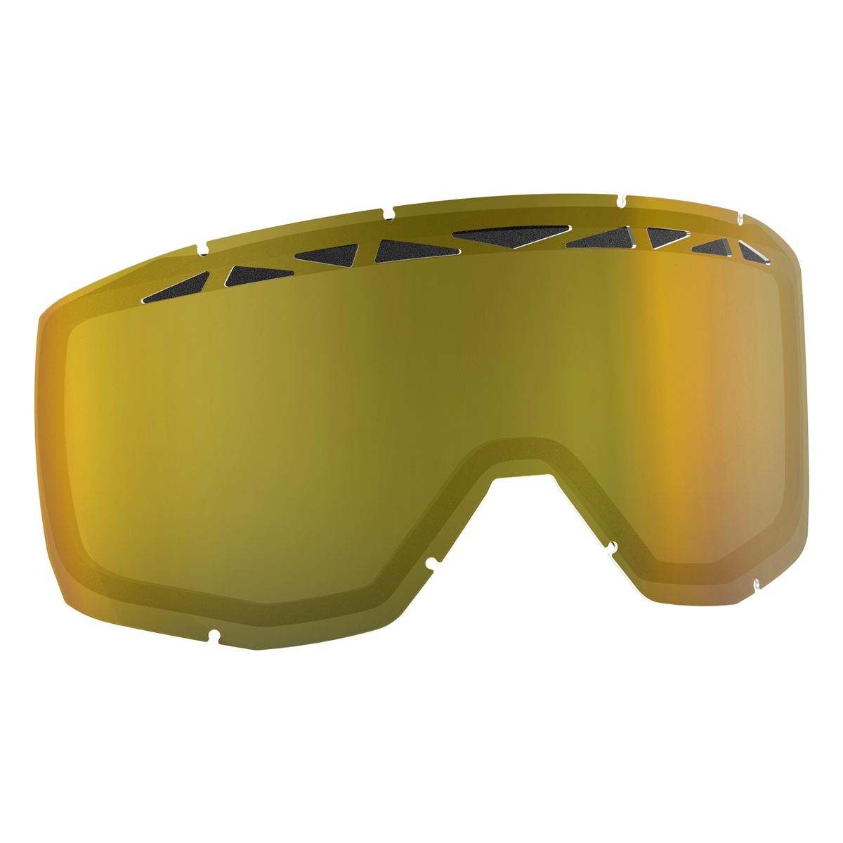 Replacement Double lens with ACS for HUSTLE/PRIMAL/SPLIT OTG/TYRANT Goggles - Yellow Antifog
