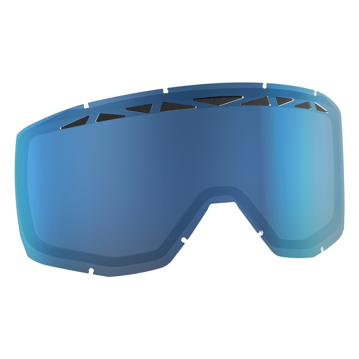 Replacement Double lens with ACS for HUSTLE/PRIMAL/SPLIT OTG/TYRANT Goggles - Blue Antifog
