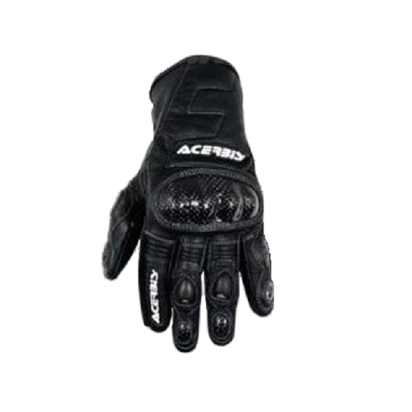 Nevada leather gloves with protectors - Black XXL