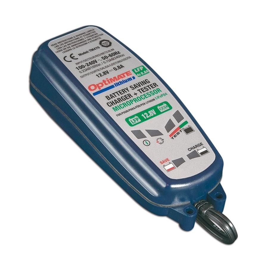 OptiMATE Lithium 4s - Caricabatterie con recupero mantenitore tester otto fasi 12,8/13,2V 0,8A