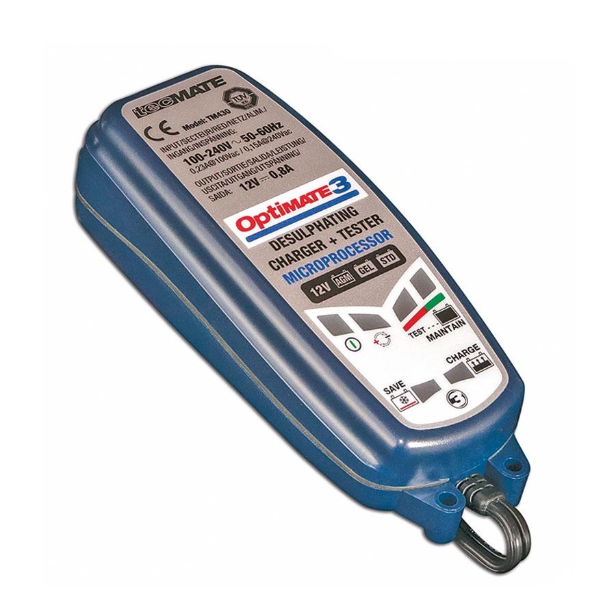 OptiMATE 3 - Caricatore con recupero di batteria manutentore e tester sette fasi 12 V 1A