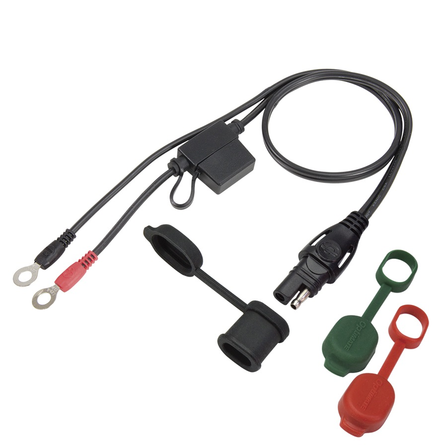 Optimate CABLE O-01 Permanent Battery Lead O-01 with fuse 15A - Max 5A 50cm