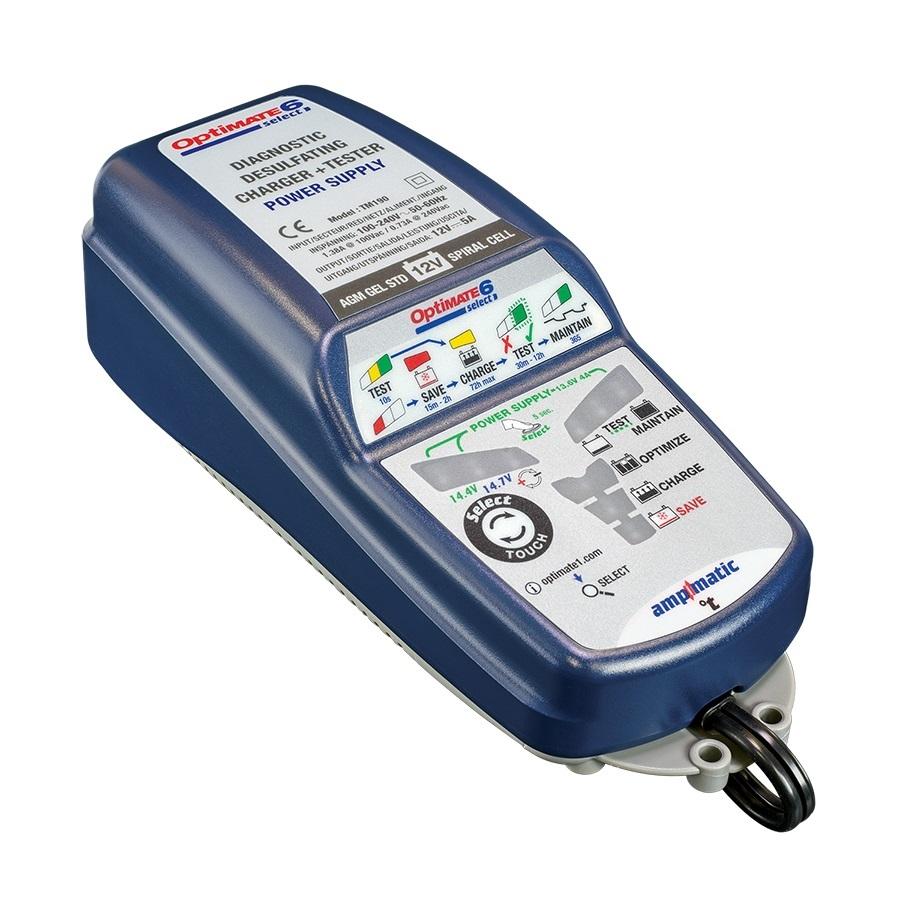 OptiMATE 6 Select - Caricabatterie con recupero di batteria e tester nove fasi 12V 5A