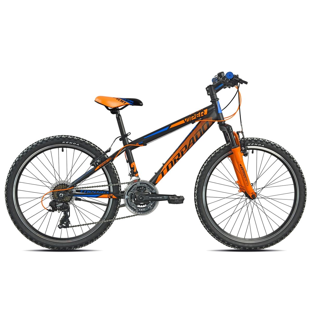 Junior Mtb T610 Viper 24'' Black/Orange/Blue 21s