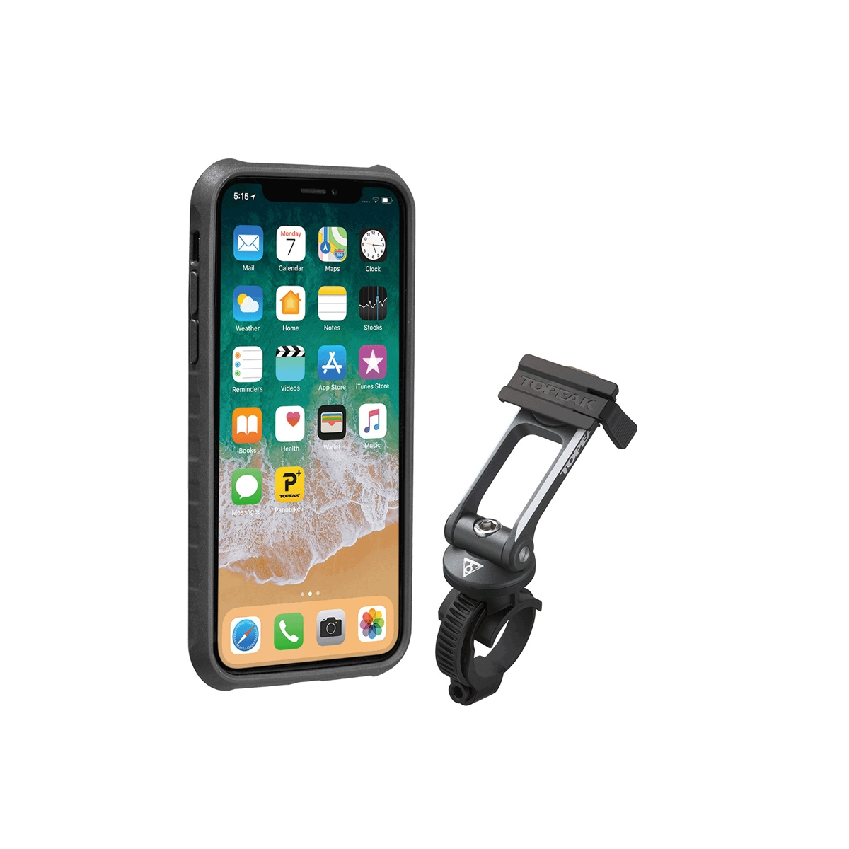 RideCase for iPhone X/XS Black/Gray Mount Included