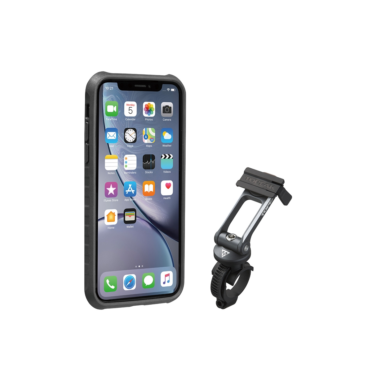 RideCase for iPhone XR Black/Gray Mount Included