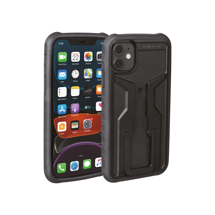 RideCase for iPhone 11 Pro Max Black/Gray Mount Included
