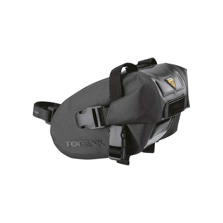 Borsello Sottosella Wedge DryBag Small 0,6L Nero Impermeabile Cinturino a Strappo