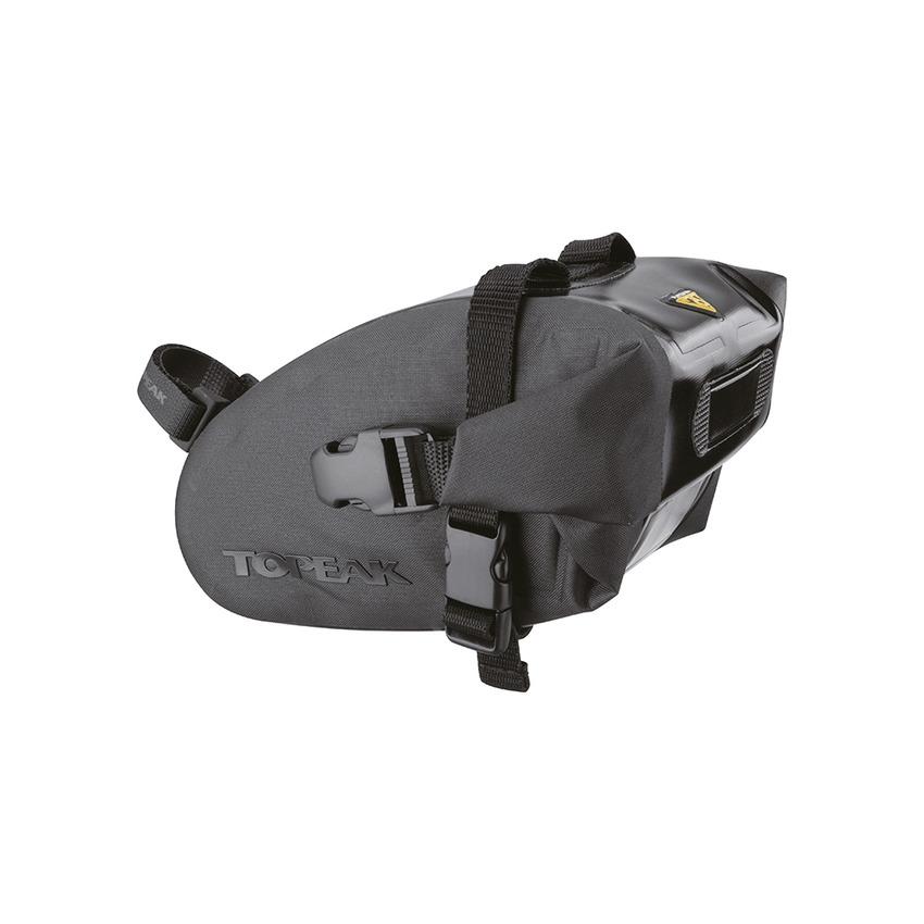 Saddle Bag Wedge DryBag Medium 1L Black Waterproof Strap Mount
