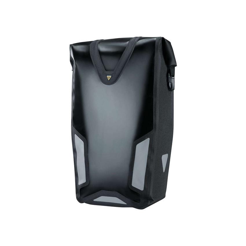 Borsa Laterale Pannier DryBag DX 25L Impermeabile Sistema QuickClick Nero