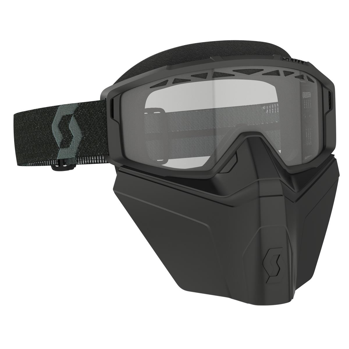 Maschera Primal Safari Facemask Nero - Lente trasparente antifog