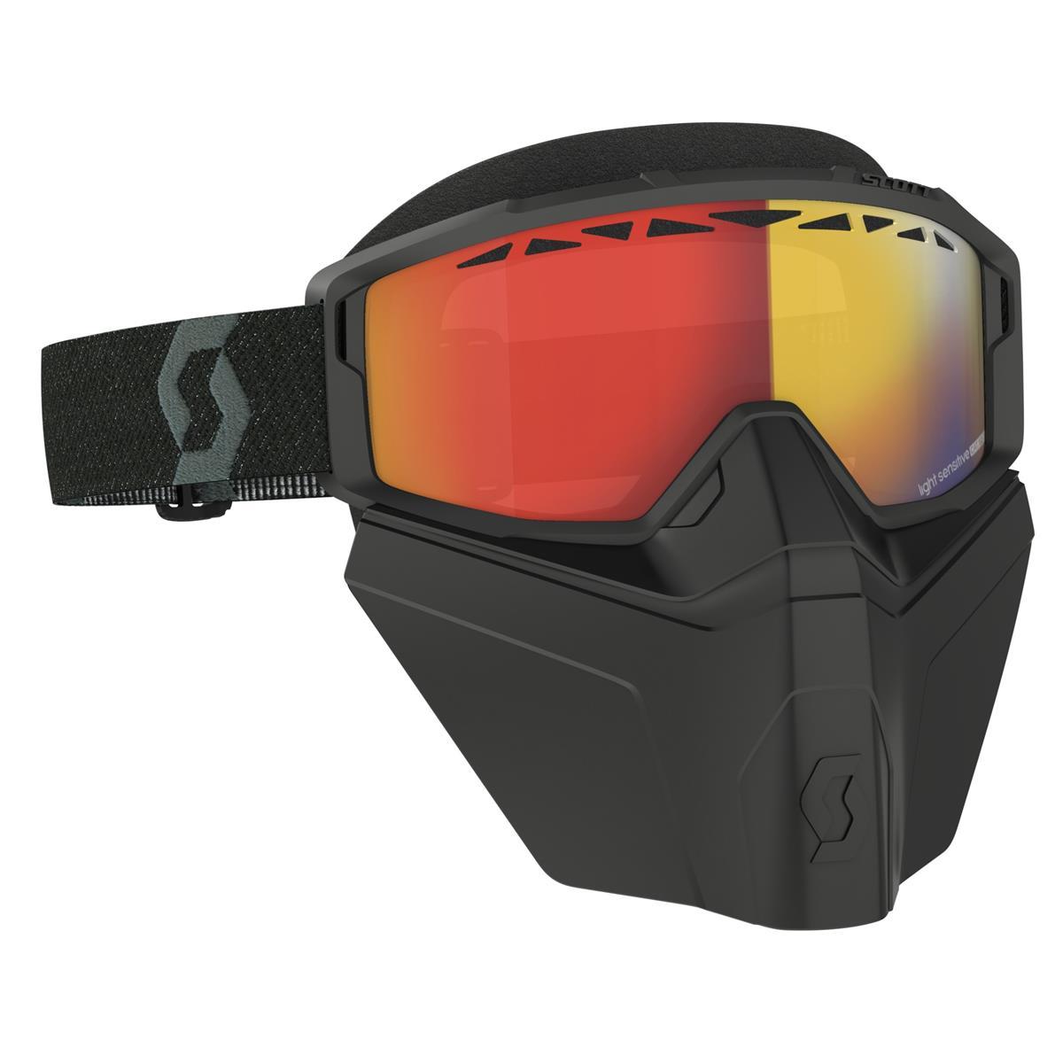 Maschera Primal Safari Facemask Nero - Lente foto-cromatica rosso chrome