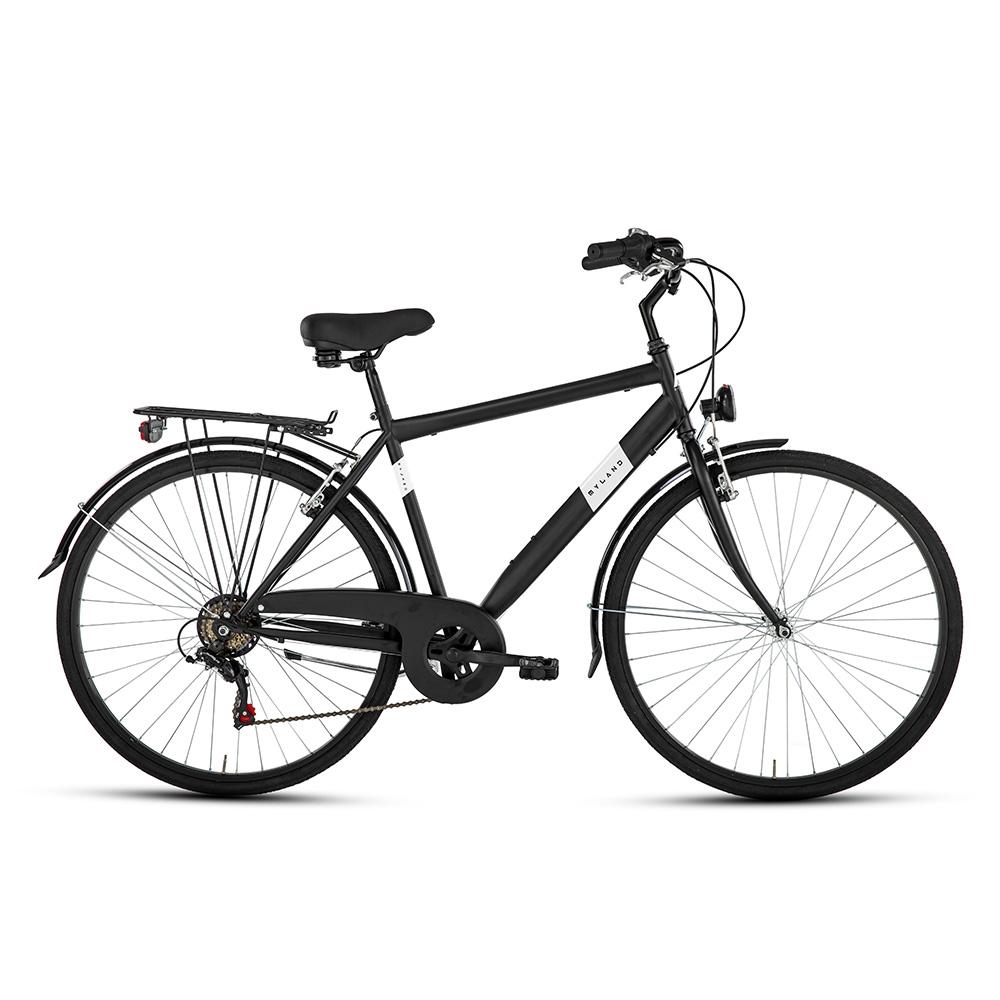 City bike 28'' 6v Uomo Nero opaco Taglia 50
