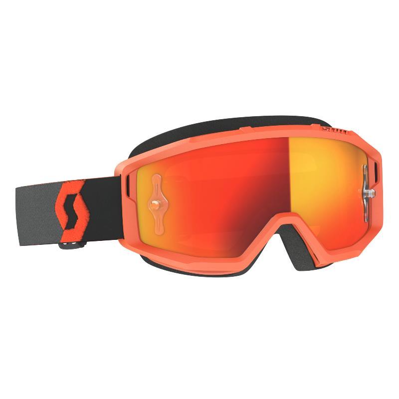 Maschera Primal arancione lente Orange Chrome Works.