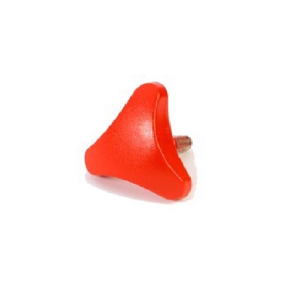 Pomello filettato per fissaggio perni cavalletto da officina