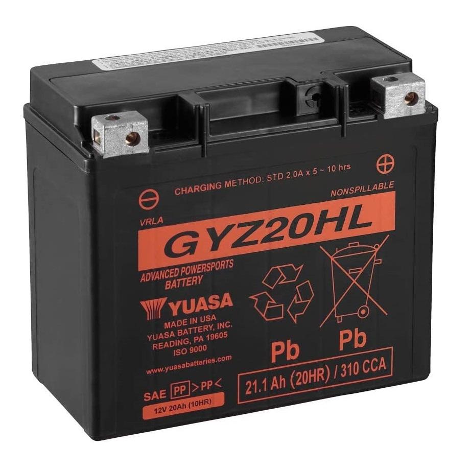 GYZ20HL - Batteria Senza Manutenzione ad elevate prestazioni equivalente YTX20HL-BS