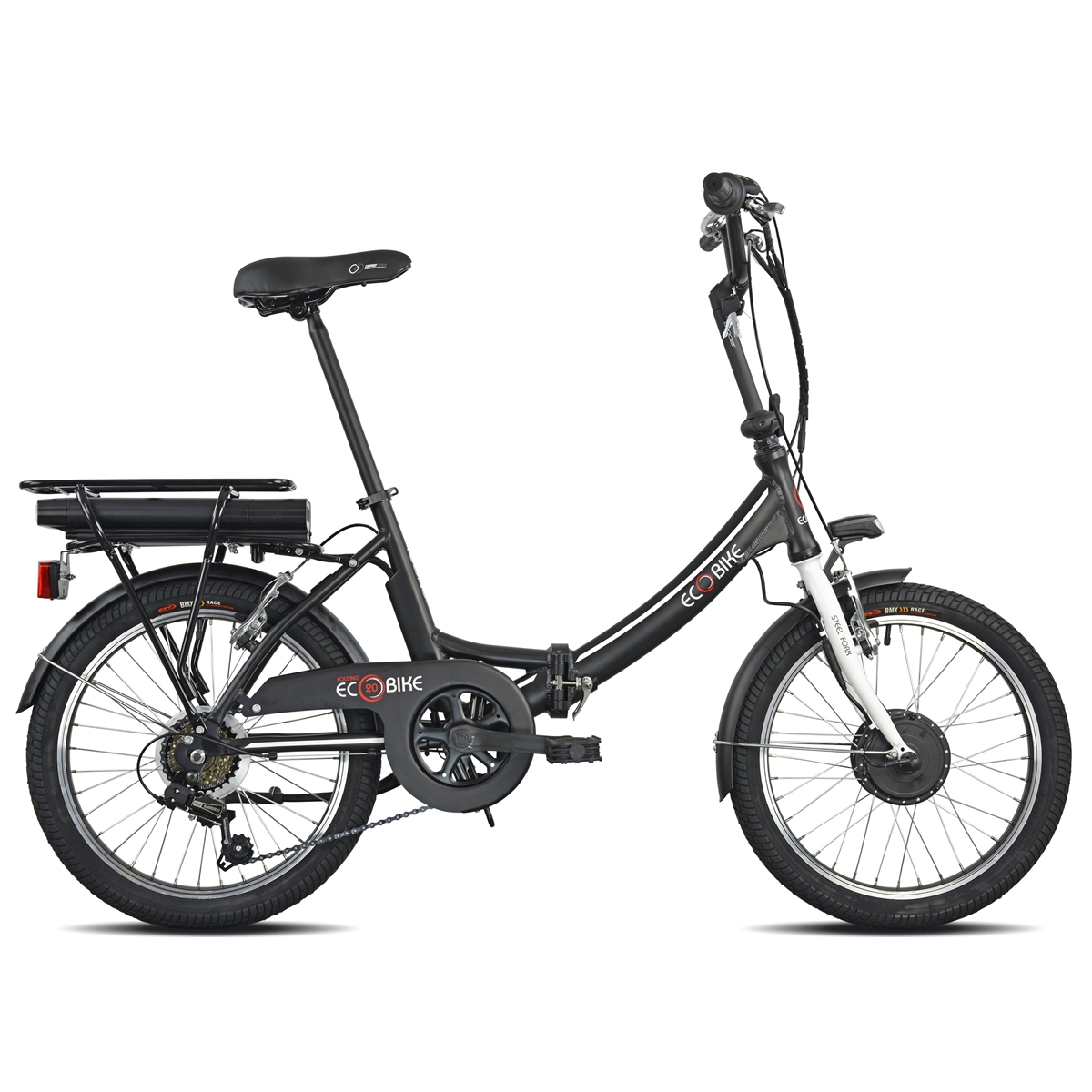Folding Ecobike 1281 20'' 6s Bafang Front 374Wh Black 2021