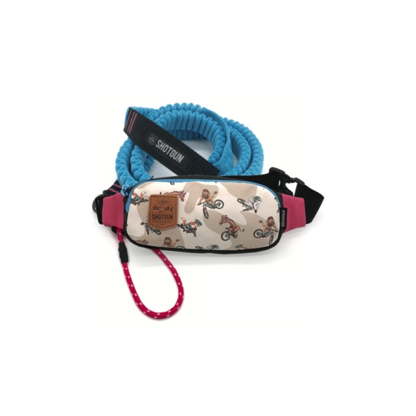 Elastic Towing Strap MTB Tow Rope 140/296mm + Hip Pack Waist Bag