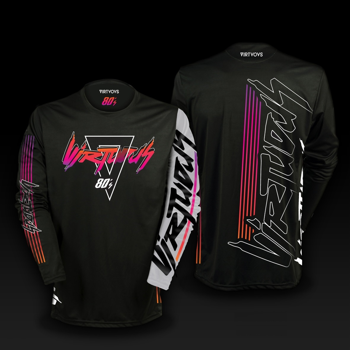 Long sleeve Jersey 80'S black size S