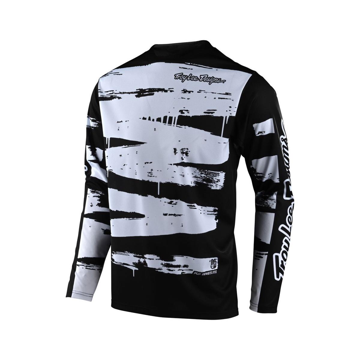 Jersey Sprint Brushed Long-Sleeve Black/White Size S