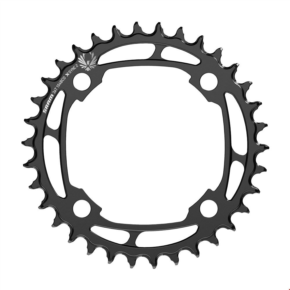Steel Chainring Eagle 34t X-Sync 12s bcd 104mm black