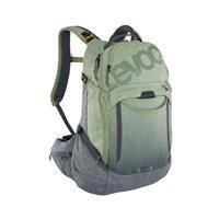zaino trail pro 16 litri oliva - carbon grey taglia s/m verde