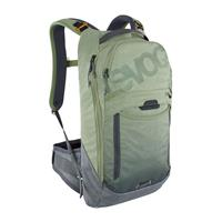 backpack trail pro 10 litri olive - carbon grey size s/m green