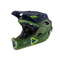 casco enduro mtb 3.0 verde/blu taglia s (51-55cm) verde