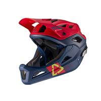 casco enduro mtb 3.0 blu/rosso taglia s (51-55cm) blu