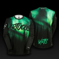 long sleeve jersey firs aurora size s green