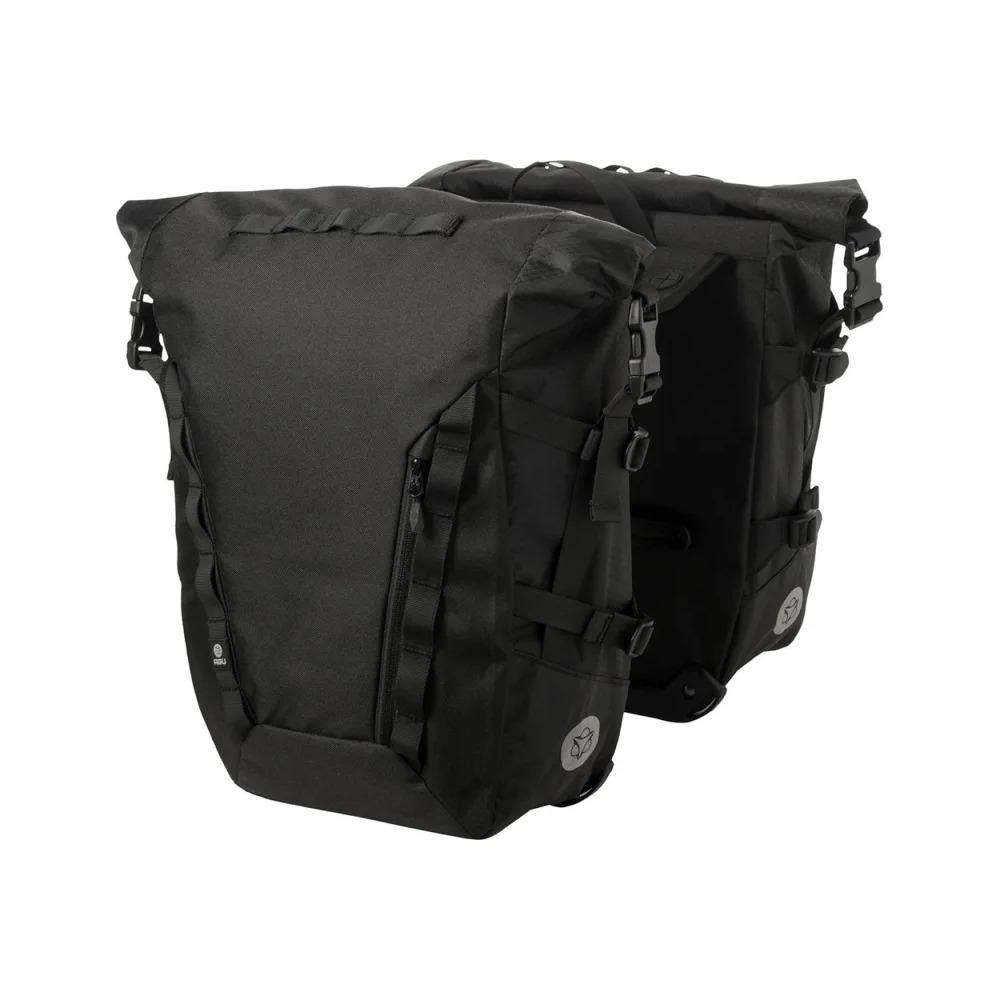 Rear Rack Urban Double Bag Roll H2O 36L Black